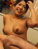 Top Japanese Av Models - Maki Sakashita Asian gets cum on tits from stroking two shlongs
