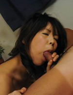 Asian 69 Hardcore - Maki Sakashita Asian takes cock in mouth and between spread labia