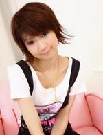 Japanese Av Mini Skirt - Miriya Hazuki is in green satin before spreading her pussy wide