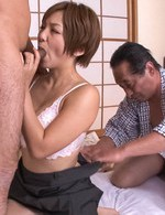 Av Mini Skirt Porn - Sumire Matsu Asian with generous cans gets fingers in shaved slit