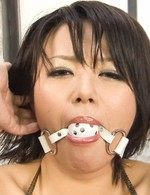 Av Creampie Porn - Haruka Uchiyama with ball in mouth can't scream while is fingered