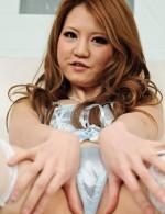Japanese Av Hardcore Videos - Adorable Sakamoto Hikari in blue satin toys her trimmed pussy