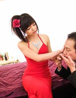 Top Asian 69 Videos - Megumi Shino Asian in red shoes sucks dong and gets it doggy