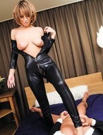 Av Teen Porn - Sumire Matsu Asian takes latex outfit off to get cock she sucked