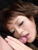 Japanese Av Hardcore - Kurara Iijima Asian with fingered cunt sucks and rides shlong