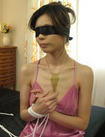 Asian Av Hairy Pussy - Natsumi Mitsu in torn stockings blindfolded and fingered
