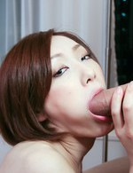Japanese Av Creampie Videos - Adorable Nene Iino kneels to have her mouth stuffed with cock
