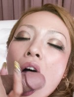 Japanese Av Bukkake - Rei Miyakawa Asian licks penis and gets it for hot doggy style