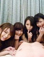 Japanese Av Mini Skirt - Yui Nanase Asian and dolls plays with cock in lesbian episode