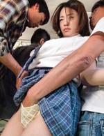 Asian Av Bikini - Yuna Satsuki Asian sucks shlong while is doggy nailed in the bus