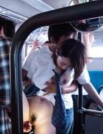 Asian 69 Schoolgirls - Yuna Satsuki Asian in school uniform sucks boners in full bus