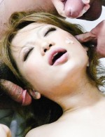 Asian Av Cosplay - Ai Shirosakia is covered in a hot cum bath from two guys