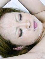 Asian 69 Bikini - Ai Shirosakia is covered in a hot cum bath from two guys