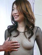 Japanese Av Public Sex Videos - Sara Seori Asian with tits in fishnet has nooky licked and nailed