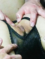 Japanese Av Milf - Rika Aina Asian with mask on eyes has cunt fondled through panty