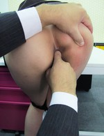 Asian 69 Bukkake - Office hottie Ibuki got thong pulled down for a fuck from behind