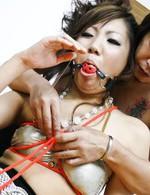 Asian 69 Amateur - Mahiru Tsubaki Asian in colorful dress gets fingers in beaver