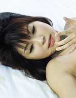Asian 69 Tit Fuck - Azumi Harusaki Asian with white panty gets sperm from joystick