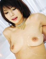 Japanese Av Cum - Azumi Harusaki Asian with sperm on tits is nailed in hairy pussy
