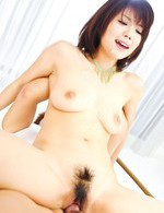 Top Asian Av Models - Azumi Harusaki Asian with sperm on tits is nailed in hairy pussy