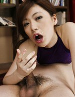 Asian 69 Matures - Keito Miyazawa Asian in fishnet has slit licked though crotchless