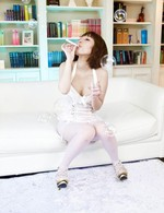 Top Asian 69 Models - Tiara Ayase Asian has stockings broken to be screwed through