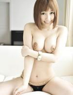 Japanese Av Facial Videos - Tiara Ayase Asian has nipples squeezed and sucks two shlongs