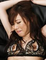 Asian 69 Creampie - Keito Miyazawa Asian has clit teased through crotchless thong
