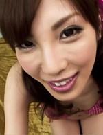 Av Bukkake Porn - Kana Miura Asian with vibrator on nipples gets mouth fucked