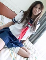 Japanese Av Facial Videos - Yukari Asian in sailor gal uniform uses mini vibrator over thong