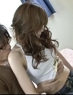 Asian 69 Tit Fuck - Izumi Koizumi Asian ends with cum in peach after riding joystick