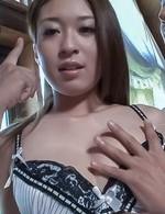Av Lingerie Porn - Marin Koyanagi Asian with juicy cans has vibrators on hairy twat