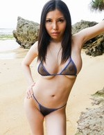 Av Big Tits Porn - Sofia Takigawa Asian busty licks and fucks shlong on the beach