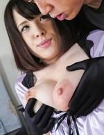 Asian 69 Anal - Koyomi Yukihira Asian is fucked between big boobs by masked man