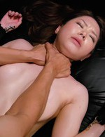 Japanese Av Big Tits - China Mimura Asian in latex corset gets vibrator over latex thong