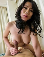 Asian Av Public Sex - Rei Kitajima Asian fingers her hairy crack before getting tool