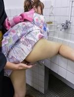 Asian 69 Double Penetration - Yumi Maeda Asian is fucked and gets vibrator under kimono at bath