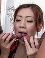 Japanese Av Facial Videos - Kaori Maeda Asian is fucked in cunt and mouth by licked boners