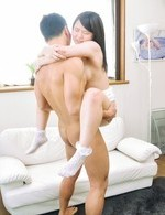 Japanese Av Creampie Videos - Sanae Akino Asian in socks rides dick and shakes juicy titties