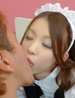 Japanese Av Feet Videos - Nao Kojima Asian house keeper in stockings has beaver screwed