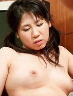 Asian 69 Bondage - Emiri Takeuchi Asian ends with cum in mouth after is drilled