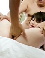 Asian Av Stockings - Kanae Serizawa Asian has body oiled and pussy fucked with fingers