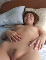 Top Japanese Av Porn Models - Mao Hosaka Asian with big nipples gets cum on belly after fuck