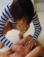 Asian 69 Mini Skirt - Nene Mashiro Asian with streaky blouse and nude ass gives blowjob
