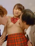 Asian 69 Big Tits - Shiori Uta Asian has nipples licked by men whose tools she sucks