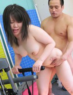 Asian 69 Handjob - Seira Rando Asian is fucked with dick and vibrator by gym trainer