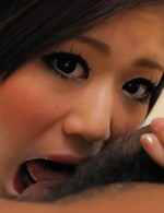 Asian Av Tit Fuck - Rin Saotome Asian is pumped really well through hole in shorts