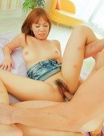 Hot Av Porn Videos - Asuka Asian doll fondles big cans and spreads labia for action