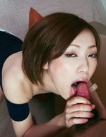 Asian Av Bondage - Charming Nene Iino plays around and gets a mouthful of dick