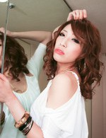 Japanese Av Threesome Videos - Aya Sakuraba in a fancy short dress swallows thick cock